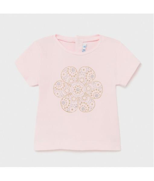 Μπλούζα κοντομάνικη basic Ecofriends baby κορίτσι Mayoral 21-00105-034