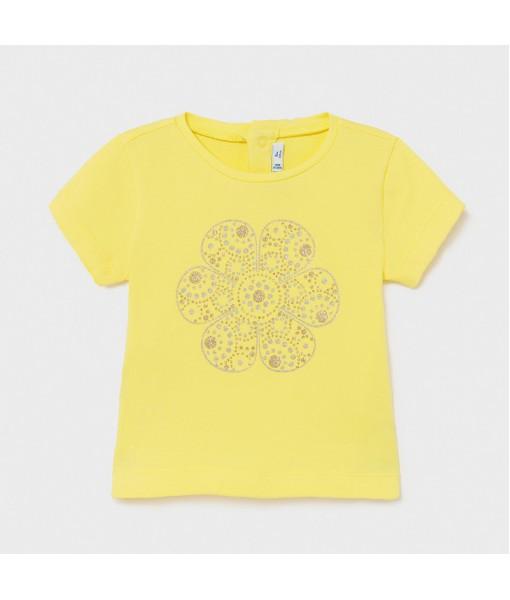 Μπλούζα κοντομάνικη basic Ecofriends baby κορίτσι Mayoral 21-00105-035