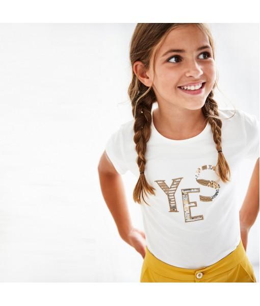 Μπλούζα κοντομάνικη βασική ECOFRIENDS κορίτσι Mayoral 21-00854-014