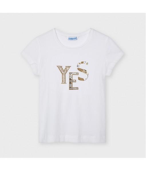 Μπλούζα κοντομάνικη βασική ECOFRIENDS κορίτσι Mayoral 21-00854-018