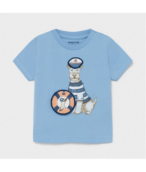 Μπλούζα κοντομάνικη PLAY WITH διαδραστική στάμπα baby αγόρι Mayoral 21-01007-011