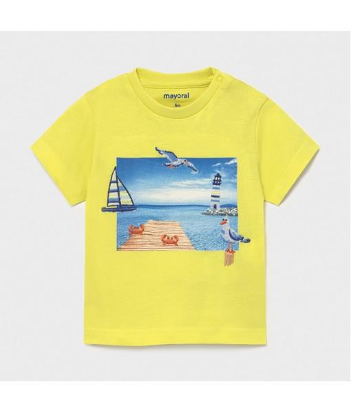 Μπλούζα κοντομάνικη Ecofriends baby αγόρι Mayoral 21-01009-021