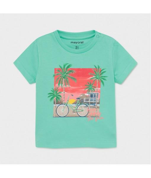 Μπλούζα κοντομάνικη Ecofriends baby αγόρι Mayoral 21-01013-081