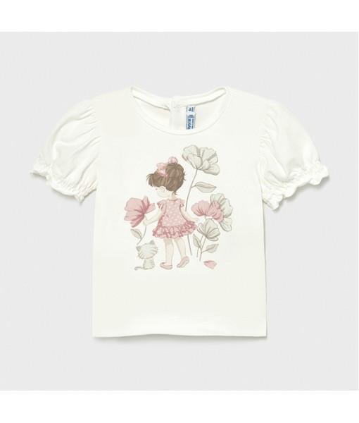 Μπλούζα Ecofriends απλικέ baby κορίτσι Mayoral 21-01077-044