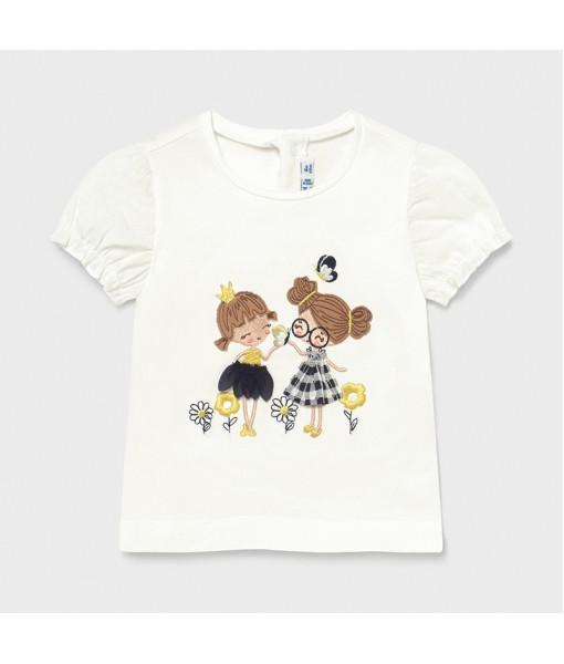 Μπλούζα κοντομάνικη απλικέ baby κορίτσι Mayoral 21-01078-086