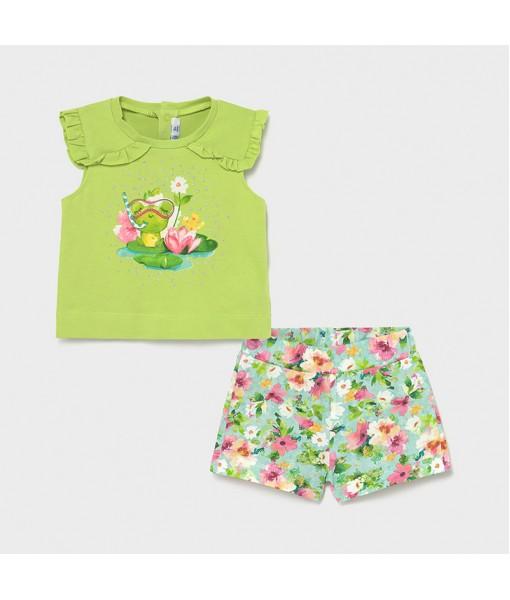 Σετ σορτς baby κορίτσι Mayoral 21-01230-082