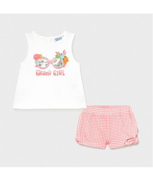 Σετ σορτς baby κορίτσι Mayoral 21-01231-095