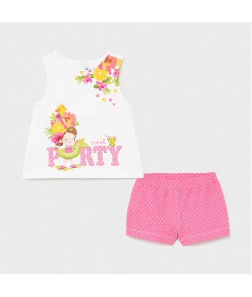 Σετ σορτς baby κορίτσι Mayoral 21-01231-097