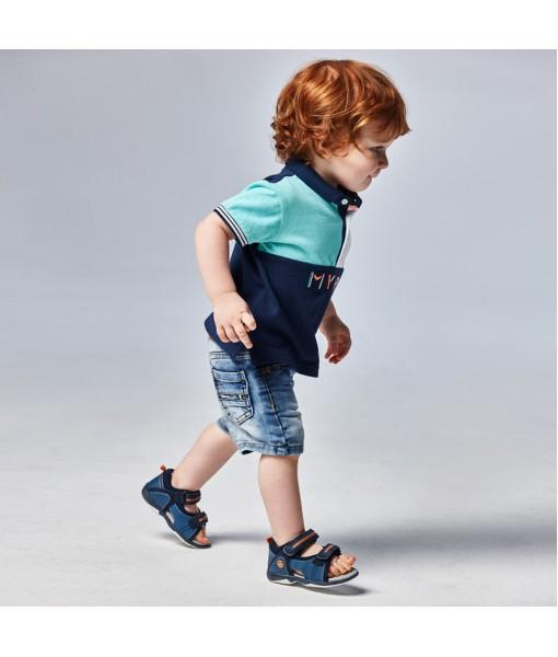 Παντελόνι τζιν κοντό τύπου βερμούδα denim soft Ecofriends baby αγόρι Mayoral 21-01241-070