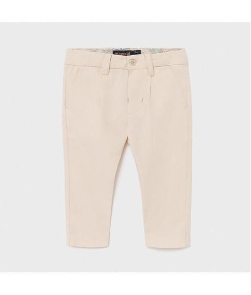 Παντελόνι μακρύ λινό αμπιγιέ baby αγόρι Mayoral 21-01581-063