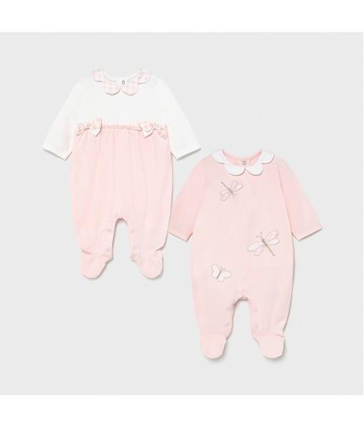 Σετ φορμάκια πυτζαμάκια νεογέννητο κοριτσι Mayoral 21-01605-065