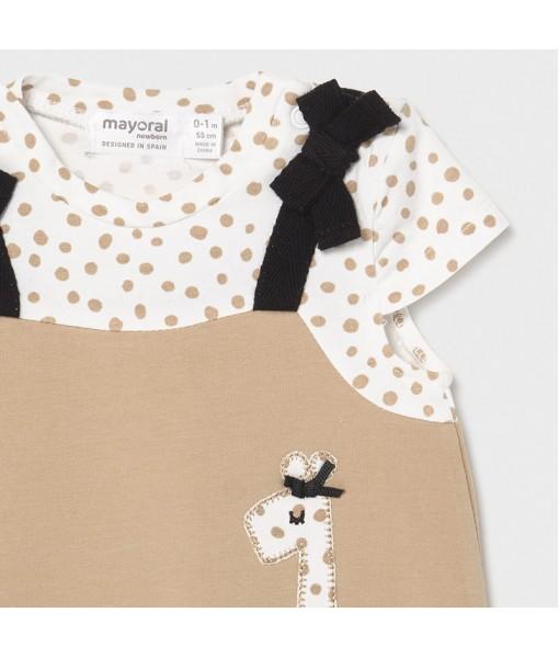 Φορμάκι κοντό με καπέλο νεογέννητο κορίτσι Mayoral 21-01613-054