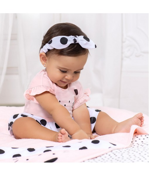 Φορμάκι κοντό με κορδέλα νεογέννητο κορίτσι Mayoral 21-01614-058