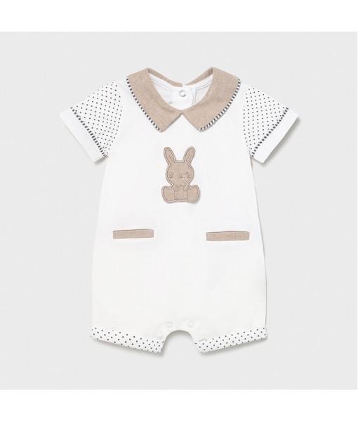 Φορμάκι πυτζαμάκι κοντό νεογέννητο αγόρι Mayoral 21-01623-014