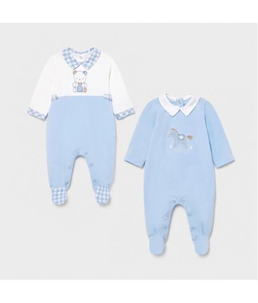 Σετ φορμάκια πυτζαμάκια νεογέννητο αγόρι Mayoral 21-01626-063