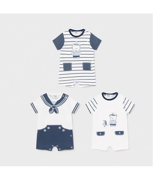 Σετ 3 φορμάκια κοντά νεογέννητο αγόρι Mayoral 21-01629-071
