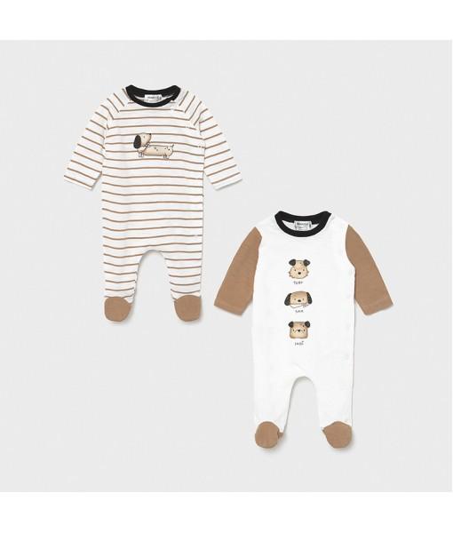 Σετ 2 φορμάκια μακρυμάνικα νεογέννητο αγόρι Mayoral 21-01635-035