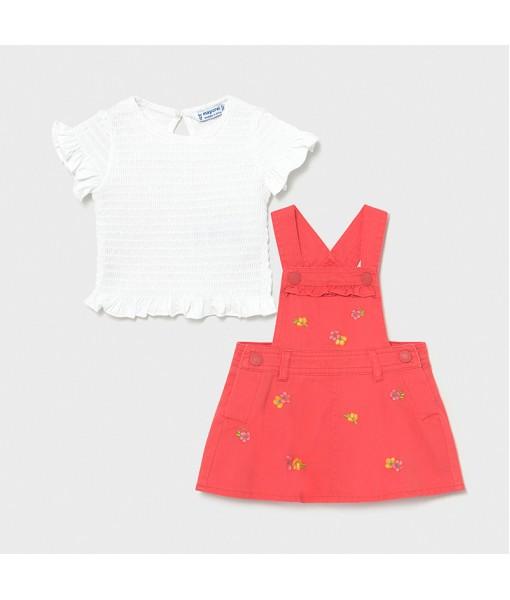 Σετ φούστα σαλοπέτα κεντητή και μπλούζα baby κορίτσι Mayoral 21-01659-016