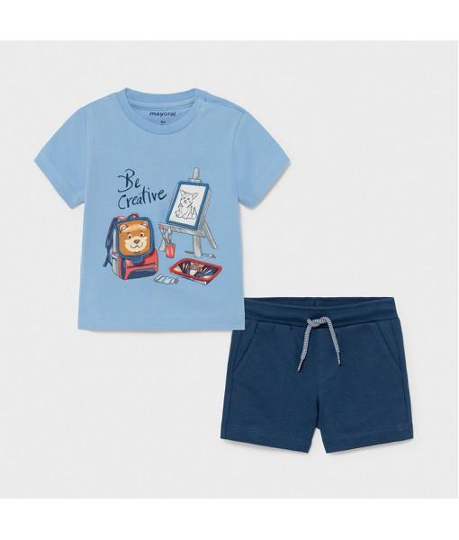 Σετ βερμούδα μακό PLAY WITH baby αγόρι Mayoral 21-01671-066