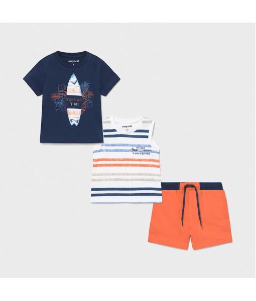Σετ βερμούδα μακό 3 τεμάχια surf baby αγόρι Mayoral 21-01672-070