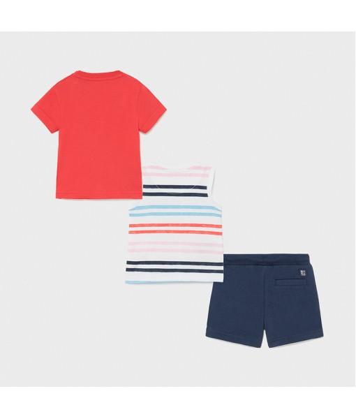 Σετ 2 μπλούζες και βερμούδα αγόρι Mayoral 21-01672-071
