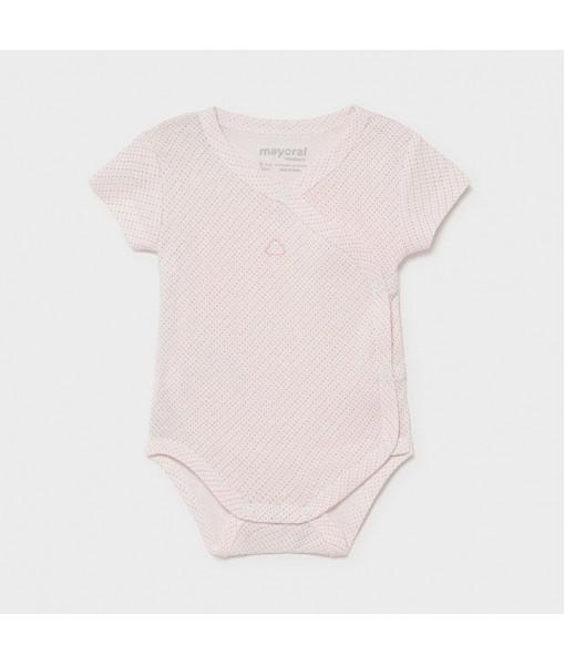 Κορμάκι κοντομάνικο νεογέννητο κορίτσι Mayoral 21-01789-033