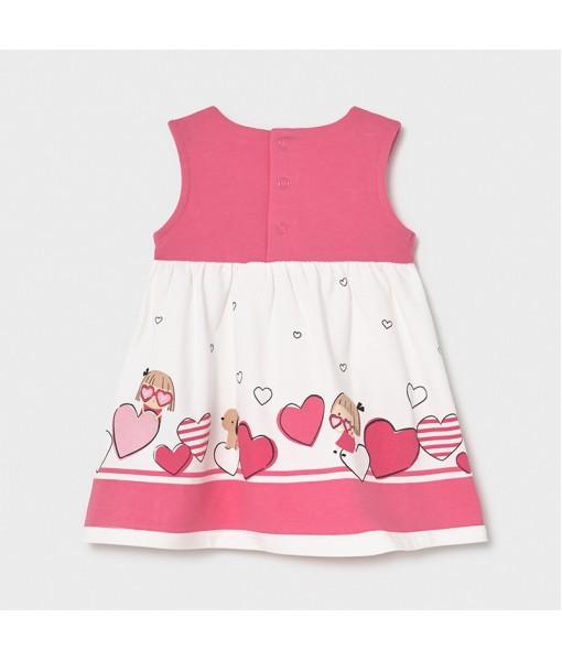 Φόρεμα σταμπωτό νεογέννητο κορίτσι Mayoral 21-01811-084