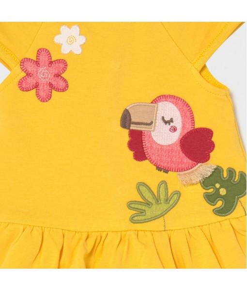 Φόρεμα μακό νεογέννητο κορίτσι Mayoral 21-01838-044