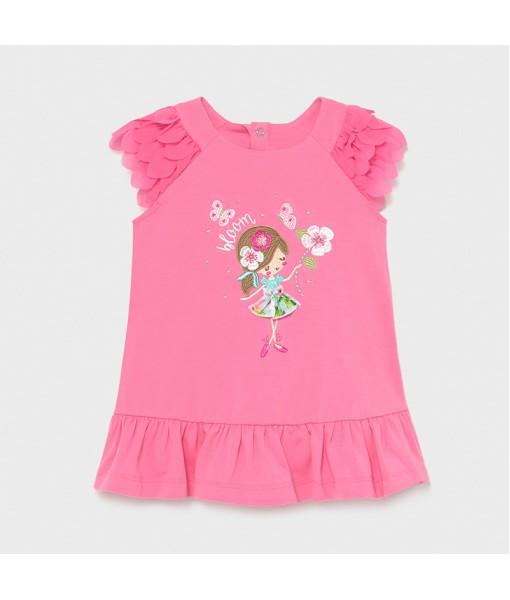 Φόρεμα μακό βολάν baby κορίτσι Mayoral 21-01975-018