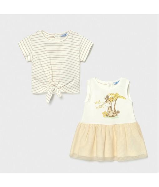 Φόρεμα 2 τεμάχια baby κορίτσι Mayoral 21-01976-059
