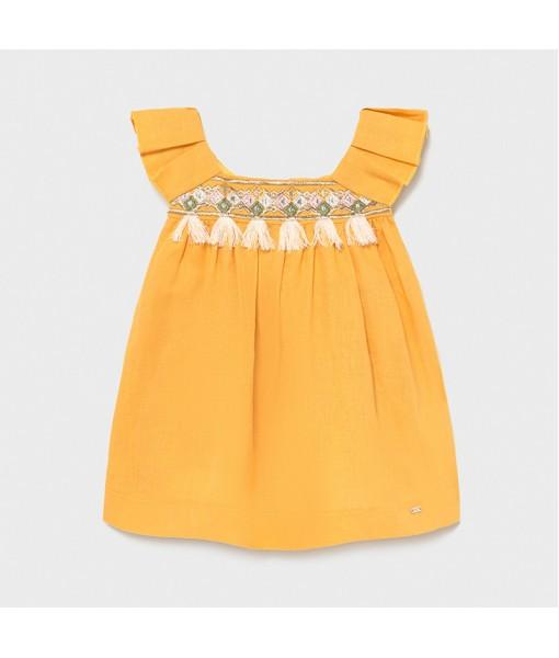 Φόρεμα λινό κέντημα baby κορίτσι Mayoral 21-01977-046