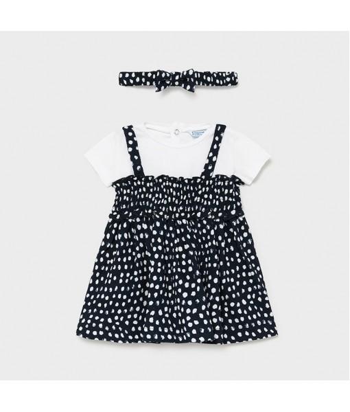 Φόρεμα με κορδέλα baby κορίτσι Mayoral 21-01985-054