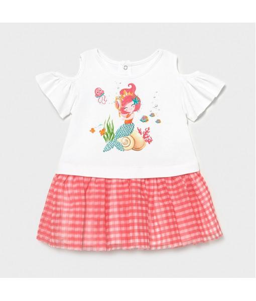Φόρεμα συνδυασμένο τούλι baby κορίτσι Mayoral 21-01993-015