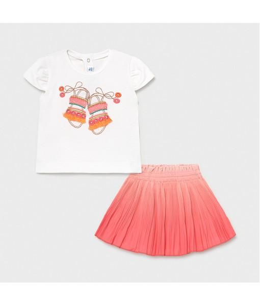 Σετ φούστα πιέτες baby κορίτσι Mayoral 21-01996-057