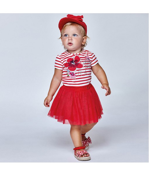 Σετ φούστα 3 τεμάχια baby κορίτσι Mayoral 21-01997-039