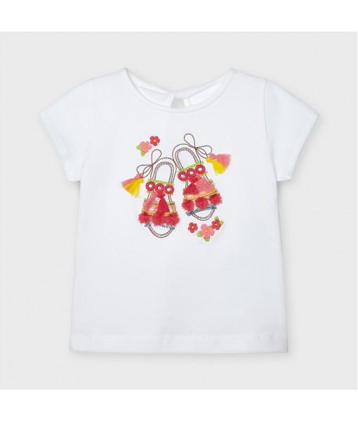 Μπλούζα κοντομάνικη σανδάλια κορίτσι Mayoral 21-03014-063