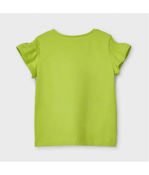 Μπλούζα κοντομάνικη Ecofriends μεταξοτυπία κορίτσι Mayoral 21-03019-026