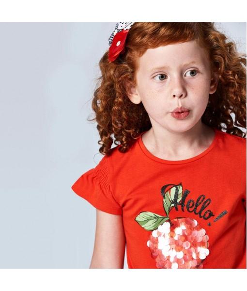 Μπλούζα κοντομάνικη Ecofriends μεταξοτυπία κορίτσι Mayoral  21-03019-027