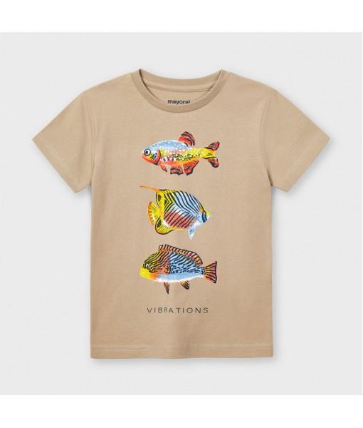 Μπλούζα κοντομάνικη ψάρια αγόρι Mayoral 21-03036-020