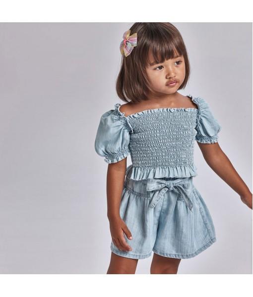 Παντελόνι κοντό τζιν Ecofriends κορίτσι Mayoral 21-03206-037