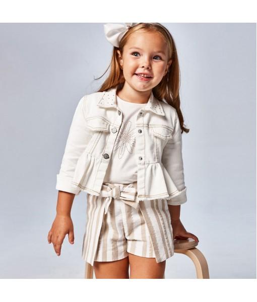 Παντελόνι κοντό ριγέ μεταλλιζέ Ecofriends κορίτσι Mayoral 21-03208-058