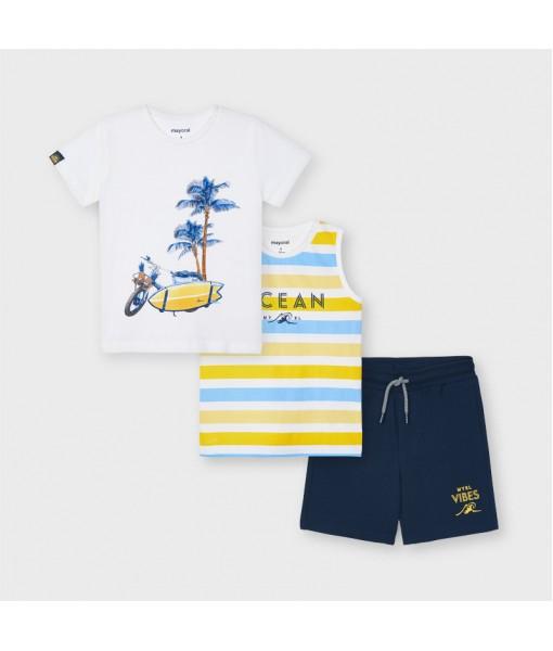 Σετ 2 μπλούζες και βερμούδα αγόρι Mayoral 21-03639-073