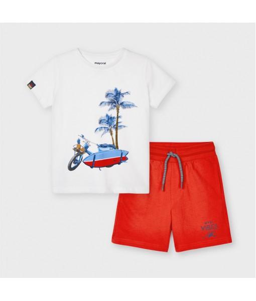 Σετ 2 μπλούζες και βερμούδα αγόρι Mayoral 21-03639-076