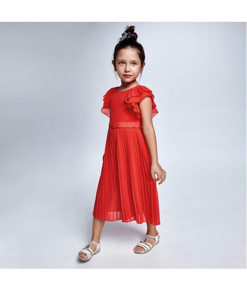 Ολόσωμη φόρμα πιέτες μουσελίνα κορίτσι Mayoral 21-03821-058