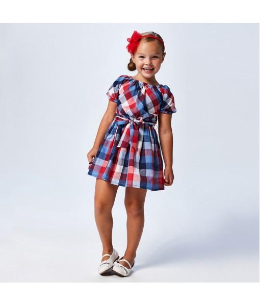 Φόρεμα καρό κορίτσι Mayoral 21-03948-003