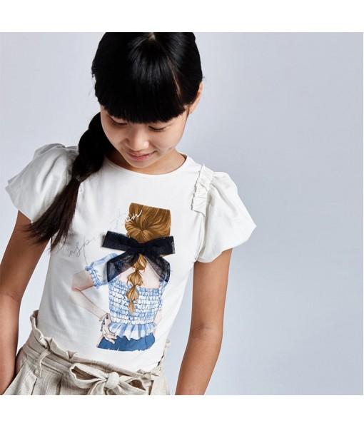 Μπλούζα κοντομάνικη κορίτσι Mayoral 21-06002-070