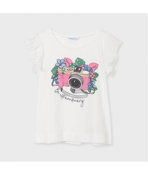 Μπλούζα αμάνικη φωτογραφική μηχανή κορίτσι Mayoral 21-06024-079