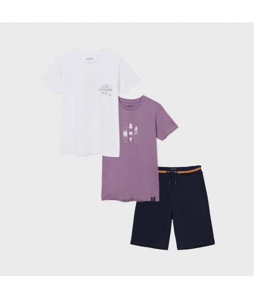 Σετ 2 μπλούζες και βερμούδα μακό αγόρι Mayoral 21-06626-078
