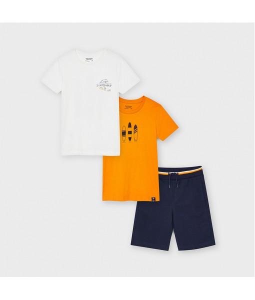 Σετ 2 μπλούζες και βερμούδα μακό αγόρι Mayoral 21-06626-079
