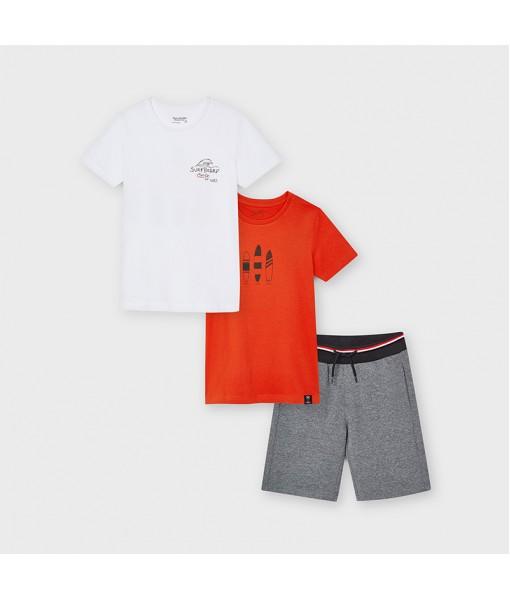 Σετ 2 μπλούζες και βερμούδα μακό αγόρι Mayoral 21-06626-080